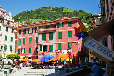 Europe Italy Vernazza Art Print by Terry Eggers