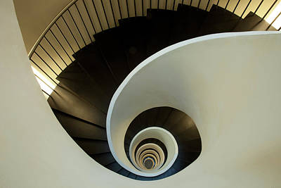 Spiral Staircase Photograph - Europe Spain, Bilbao by Jaynes Gallery