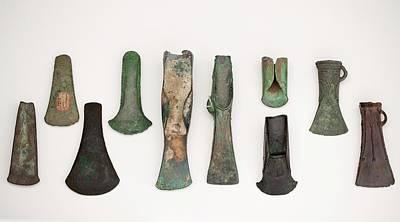 Bronze Age Photograph - European Axes by Paul D Stewart