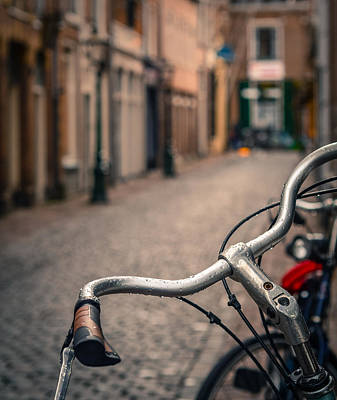 Bike Photograph - European Bicycle Scene by Mr Doomits
