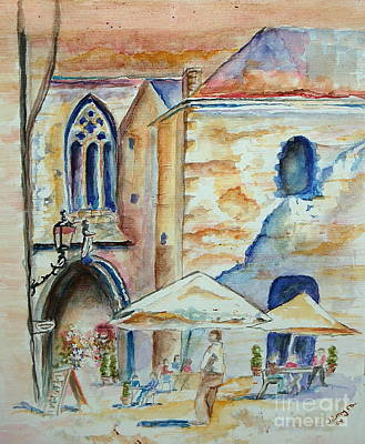 Painting - European Cafe by Tamyra Crossley