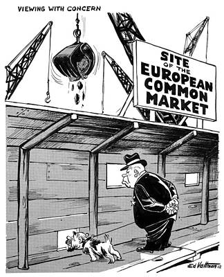 Drawing - European Common Market, 1962 by Edmund Valtman
