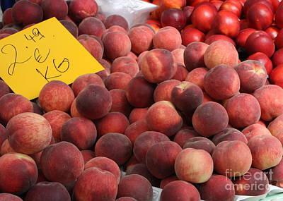 European Markets - Peaches And Nectarines Art Print