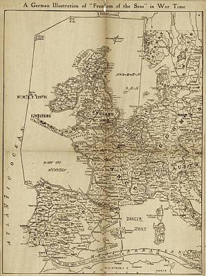 The Great War Photograph - European Naval Restrictions by Library Of Congress, Geography And Map Division