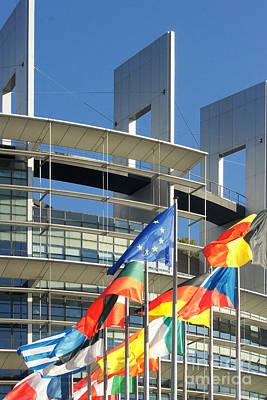 Photograph - European Parliament In Strasbourg France by Rudi Prott
