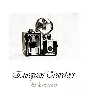 Photograph - European Travelers Back In Time Poster by Andee Design