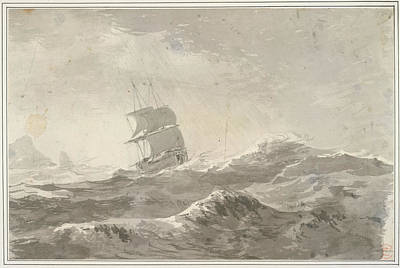 During Photograph - European Vessel Under Sail by British Library