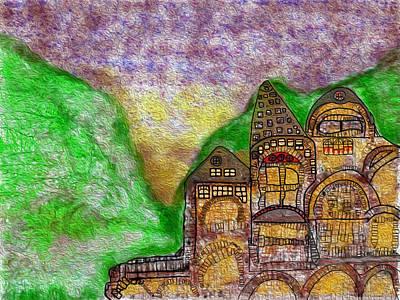 European Village Art Print by John Hines