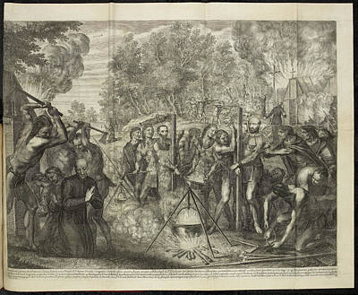 Christi Photograph - Europeans Being Put To Death By Natives by British Library