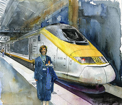 Painting - Eurostar And Diana by John D Benson