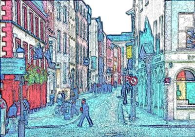 Photograph - Eustace Street Dublin by Steven Richman