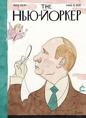 President Painting - Eustace Vladimirovich Tilley by Barry Blitt