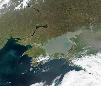 Dnieper Wall Art - Photograph - Eutrophication In The Sea Of Azov by Nasa/science Photo Library