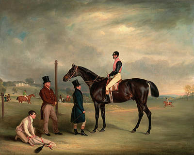Rights Painting - Euxton, With John White Up, At Heaton Park Buxton With John by Litz Collection