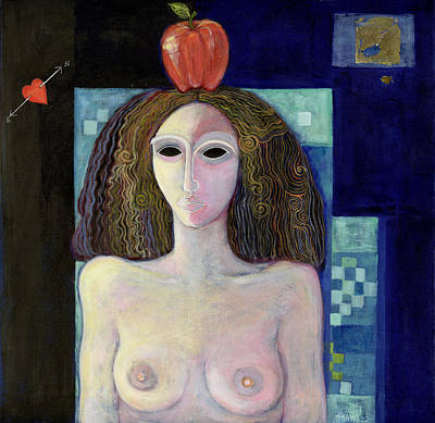 Nude Portraits Photograph - Eva, 2004 Acrylic On Canvas by Laila Shawa