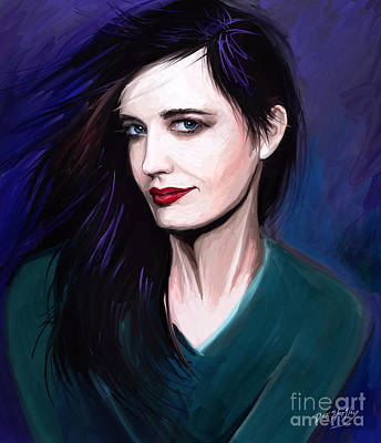 Eva Digital Art - Eva Green by Dori Hartley