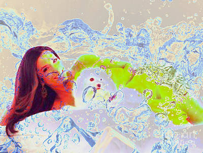 Eva Longoria In Icy Water Art Print