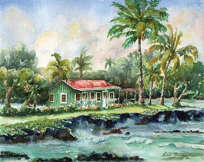 Historical Buildings Painting - Eva Parker Woods Cottage by Lisa Bunge