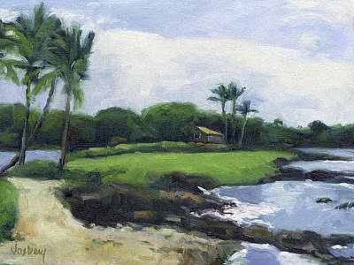 Kailua Painting - Eva Parker Woods Cottage by Stacy Vosberg