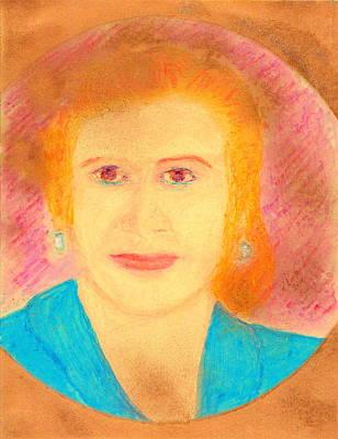 Painting - Eva Peron Orange by Richard W Linford