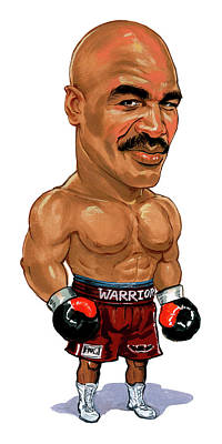 Comics Royalty-Free and Rights-Managed Images - Evander Holyfield by Art