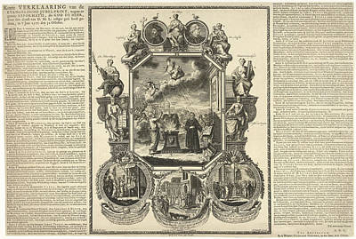 Evangelical Jubilee Print Of The Second Centenary Art Print by Adolf Van Der Laan And Abraham Lairesse I De