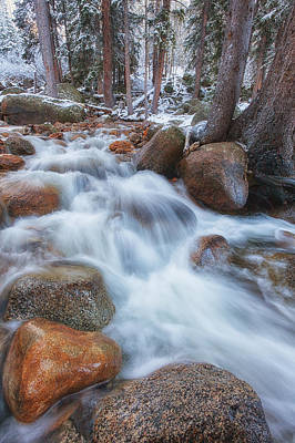 Winter Landscapes Photograph - Evans Creek by Darren  White