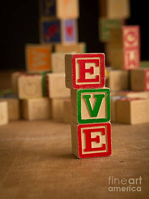 Photograph - Eve - Alphabet Blocks by Edward Fielding