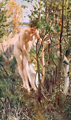 Odalisques Drawing - Eve by Anders Leonard Zorn