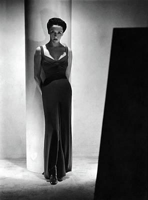 Eve Photograph - Eve Curie Wearing A Schiaparelli Dress by Horst P. Horst