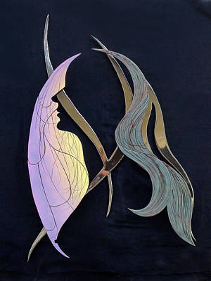 Enamel On Copper Sculpture - Eve by Dan Redmon