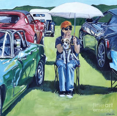Cars Painting - Eve by Deb Putnam