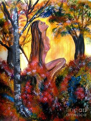 Painting - Eve In The Garden by Lori  Lovetere