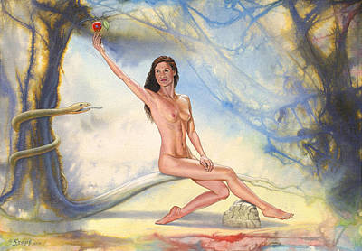 Genesis Painting - Eve by Paul Krapf