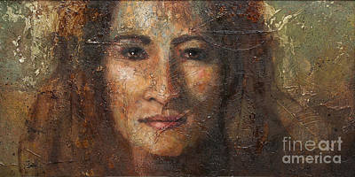 Ethnic Portraits Painting - Eve by Sandra Quintus
