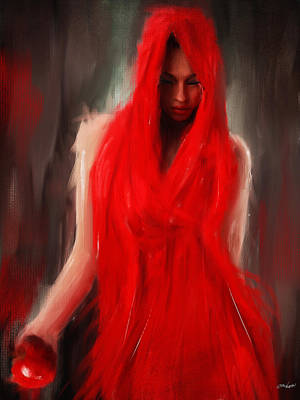 Selective Color Painting - Eve Within by Lourry Legarde