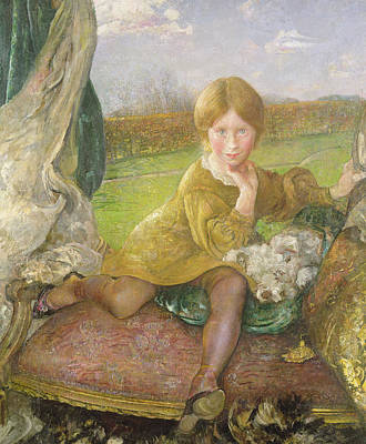 Chaise Longue Painting - Evelyn by Annie Louisa Swynnerton