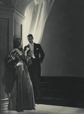 Evening Gown Photograph - Evelyne Greig In A Lanvin Gown by Horst P. Horst