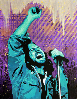 Eddie Vedder Painting - Even Flow by Bobby Zeik