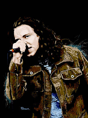Eddie Vedder Digital Art - Even Flow by Kevin Putman