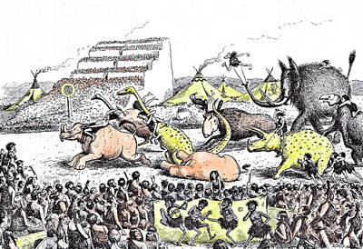 Fanciful Drawing - Even The Derby Had Its Primeval Counterpart by Reed, Edward Tennyson (1860-1933), British