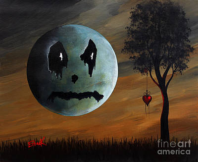 Nightmare Man Painting - Even The Grass Cries Here By Shawna Erback by Shawna Erback