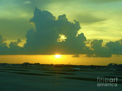 Photograph - Evening Arrival In Miami by Lew Davis
