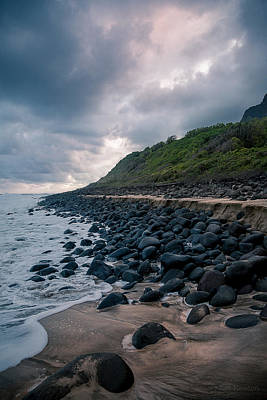 Photograph - Evening Arrives At Kalalau 2 by Tim Newton