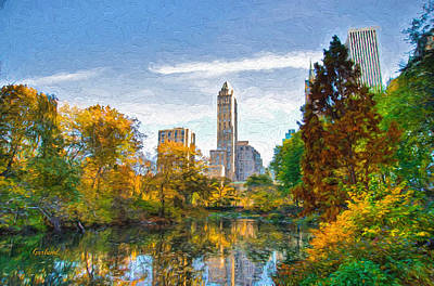 Evening At Central Park Art Print by Garland Johnson