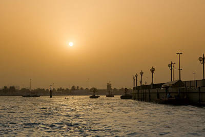 Photograph - Evening At Dubai Creek by Mick House