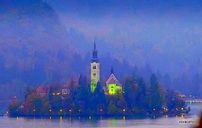 Photograph - Evening At Lake Bled by David Kovac