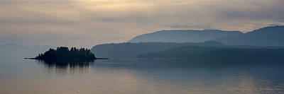 Photograph - Evening At  Lake Pend Oreille - 131126a-041 by Albert Seger