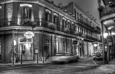 Evening At Muriels Bw Art Print