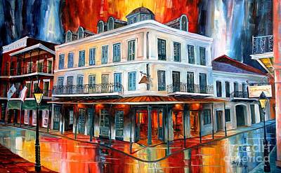 Evening At Napoleon House Art Print by Diane Millsap